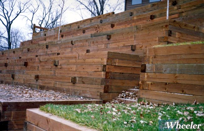 top of page - Timber Retaining Wall Design