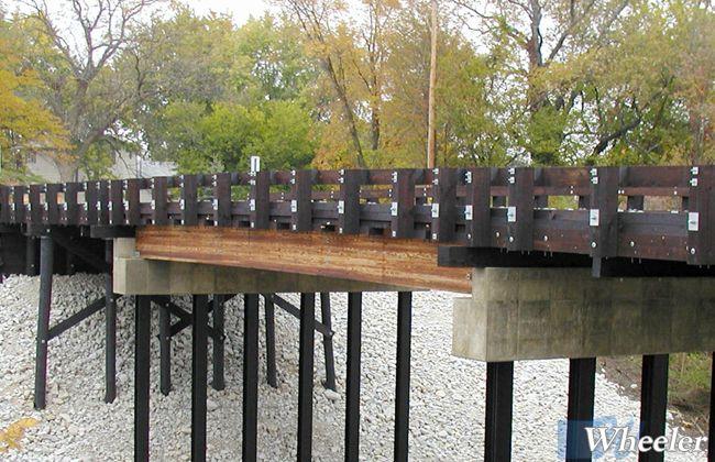 Transverse Deck Timber Vehicle Bridges Wheeler