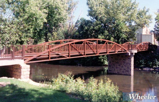 Bowstring Truss Prefabricated Steel Bridges Wheeler