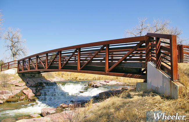 Pratt Truss Prefabricated Steel Bridges Wheeler