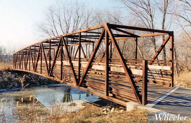 Warren Truss Prefabricated Steel Bridges Wheeler
