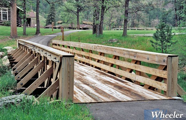 Timber Pratt Truss Recreation Bridges Wheeler