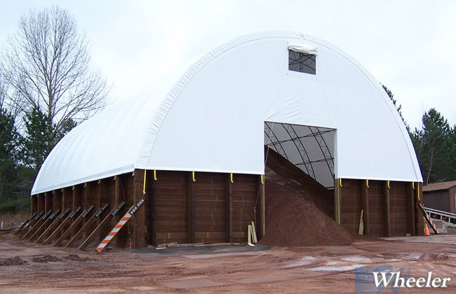 Salt Storage Buildings Fabric Roof Wheeler